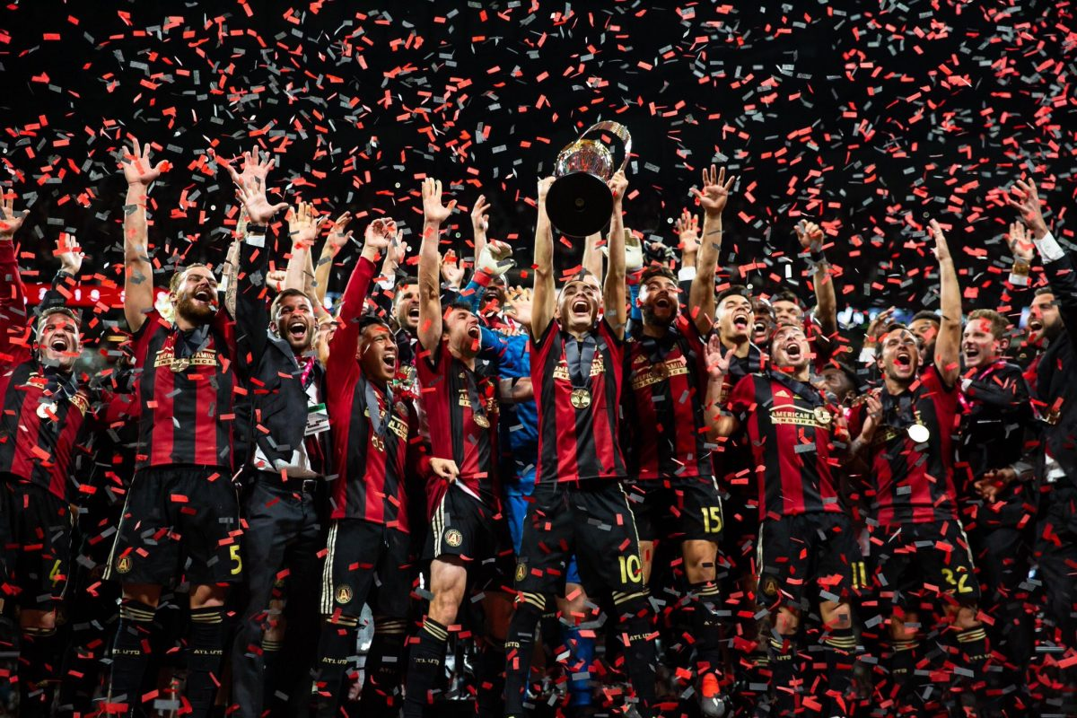 Atlanta United FC Celebrating Major League Soccer 2018 as they are crowned champions