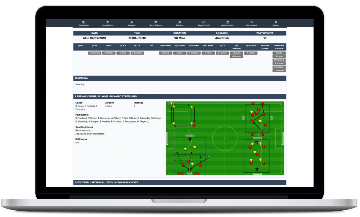 Session Planner from The Sports Office to assist Coaches with fixture planning