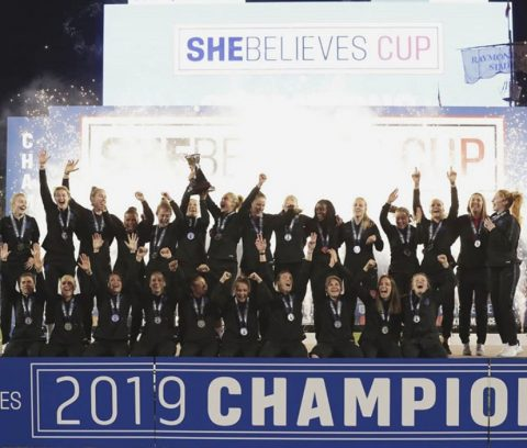 England Women's Winning She Believes Cup