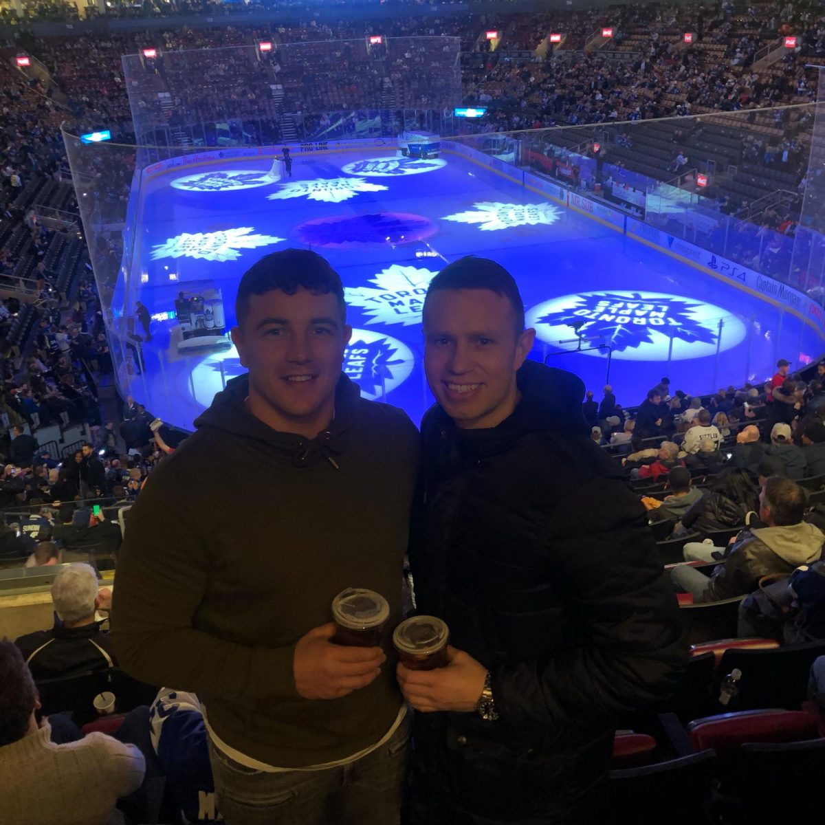 Chris and Carl at Toronto Maple Leafs game
